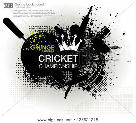 abstract grunge background for Cricket Championship