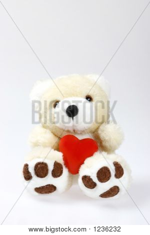 Teddy Bear With Heart And Space