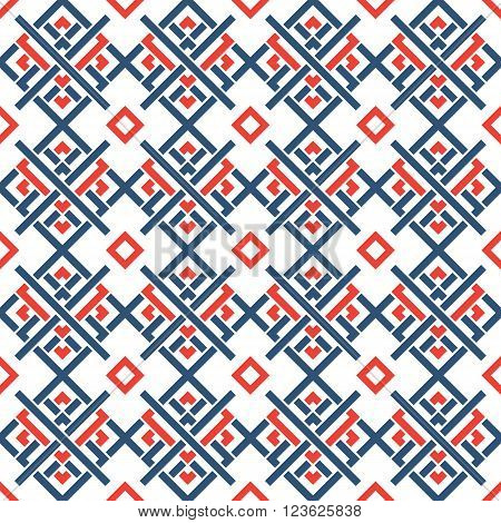 Vector seamless pattern. Geometric celtic ornament backgroung