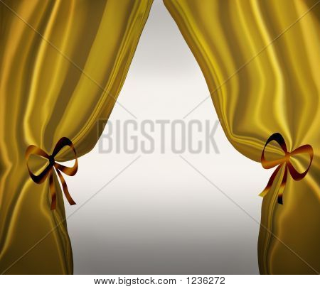 Gold Drapes Or Curtains