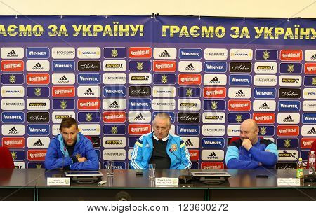 Ukraine - Wales: Pre-match Press-conference In Kyiv, Ukraine