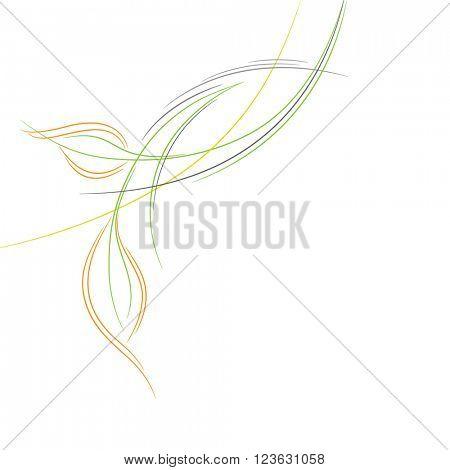 Floral background. Element for design.
