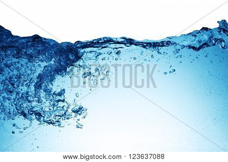 background of small bubbles water. close up