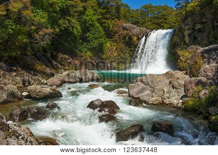 Small Waterfall in the Tongariro Crossing National Park, New Zealand