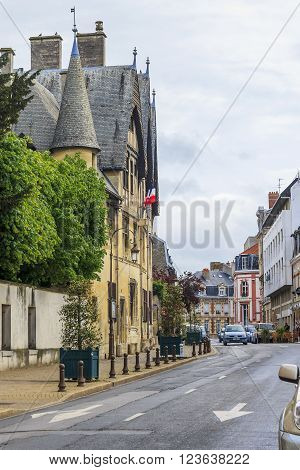 Reims, France - May 15: This is historic building in which the Museum Le Verge is located May 15, 2013 in Reims, France.