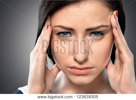 Women Headache.