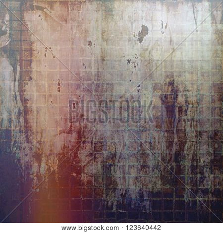 Vintage background in scrap-booking style, faded grunge texture with different color patterns: brown; red (orange); purple (violet); black; gray
