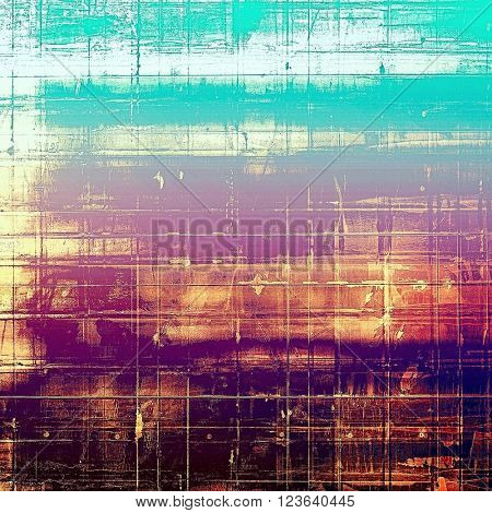 Abstract colorful background or backdrop with grunge texture and different color patterns: yellow (beige); brown; blue; red (orange); purple (violet)