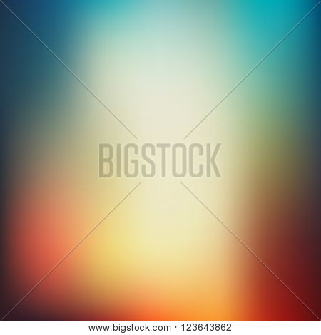 Vector illustration of soft colored abstract background. Summer light background