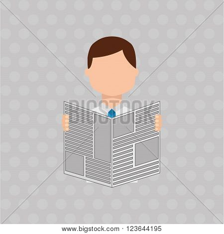 breaking news , man reading a newspaper design, vector illustration eps10 graphic