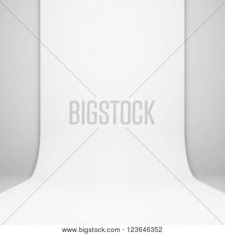 3d White Modern Interior Background