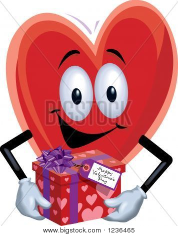 Heart Man With Gift
