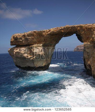 Azure Window on the coast of Gozo Island, Malta