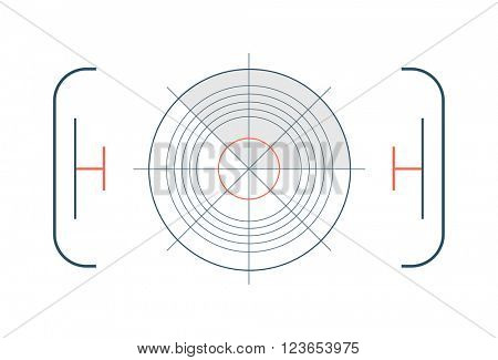 Crosshair target symbol success aim circle vector.