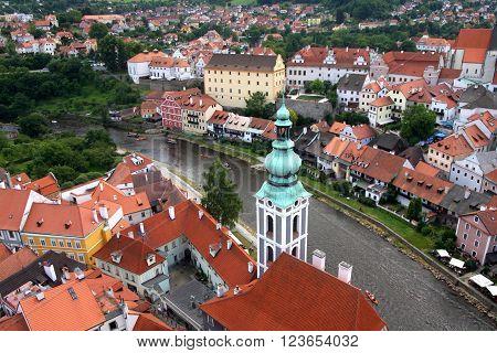 The medieval city of Cesky Krumlov, Czech republic