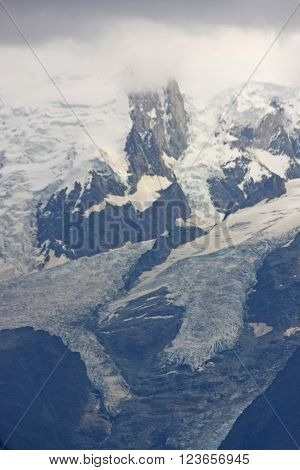 Glacier on Mont Blanc in the French Alps