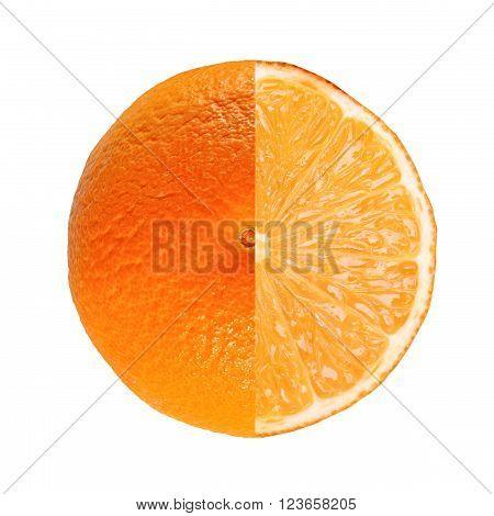 Orange Fruit Full And Sliced