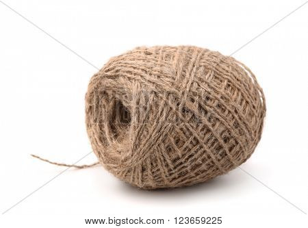 Skein of jute twine isolated on white