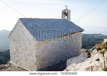 Chapel On The St. George (Sveti Jure) Mountain - Biokovo Mountain, Croatia, Europe