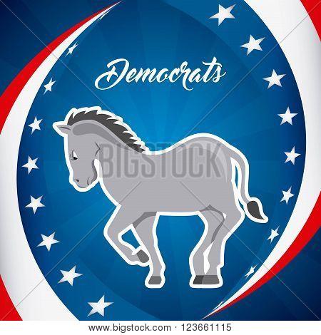 Democrat party design, vector illustration eps10 graphic