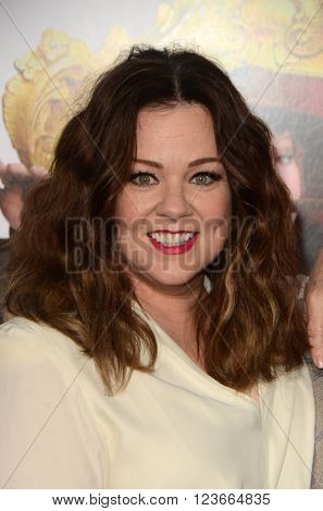 LOS ANGELES - MAR 28:  Melissa McCarthy at the The Boss World Premeire at the Village Theater on March 28, 2016 in Westwood, CA