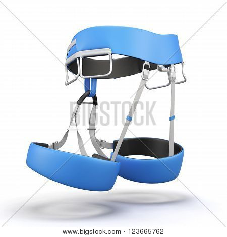 Sit harness isolated on white background. 3d rendering.