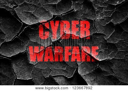 Grunge cracked Cyber warfare background with some smooth lines