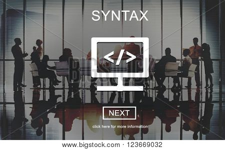 Syntax Coding Algorithm Programming Software Concept