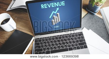 Revenue Financial Income Currency Budget Costs Concept
