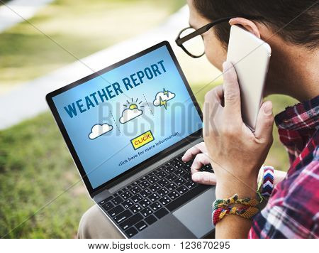 Weather Report Prediction Forecast News Information Concept