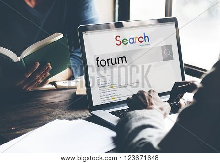 Forum Discussion Communication Information Concept