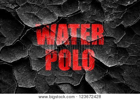 Grunge cracked water polo sign background with some soft smooth lines
