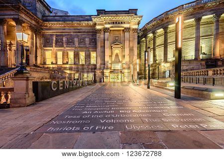 Liverpool central library is world heritage building in Liverpool England.