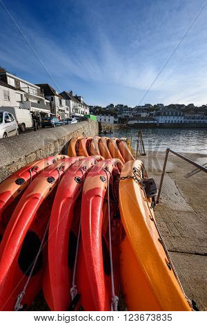 Small fishing village and tourist town of St Mawes in Cornwall South West England.