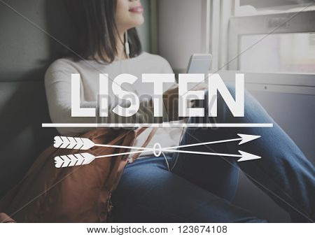 Listen Listening Music Communication Concept