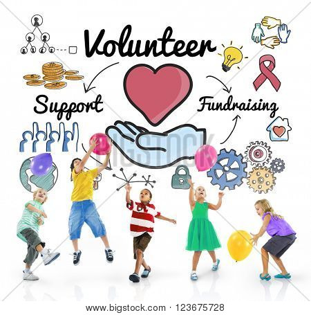 Volunteer Voluntary Volunteering Aid Assistant Concept
