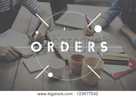 Orders Customer Purchase Merchandise Concept