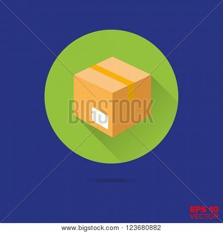 parcel flat design vector icon