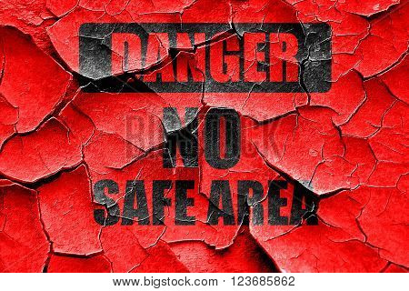Grunge cracked apocalypse danger background on a grunge background