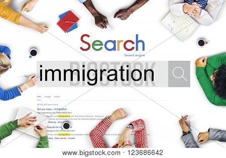 Immigration People Diversity Asylum Concept