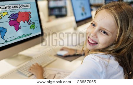 Academic School Children E-learning Geography Concept