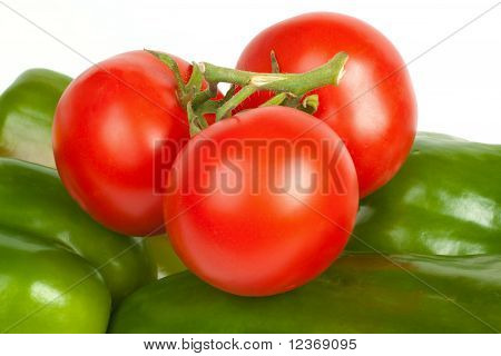 Tomatoes On Peppers