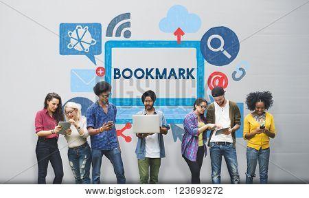 Bookmark Content Favorite Web Page Online Internet Concept