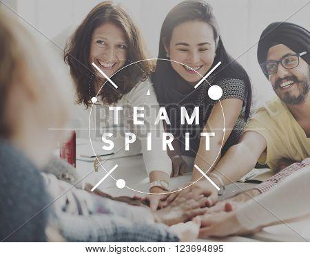 Team Spirit Teamwork Support Concept