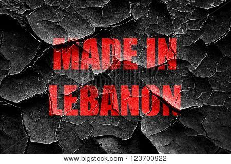 Grunge cracked Made in with lebanon some soft smooth lines