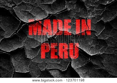 Grunge cracked Made in peru with some soft smooth lines