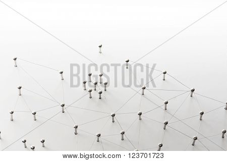 Linking entities. Network, networking, social media, connectivity, internet communication abstract.