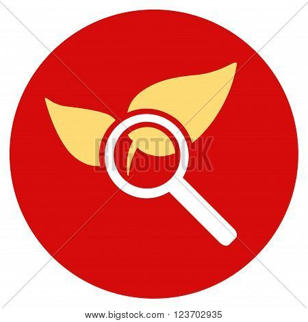 Explore Natural Drugs vector icon. Image style is a flat light icon symbol on a round red button
