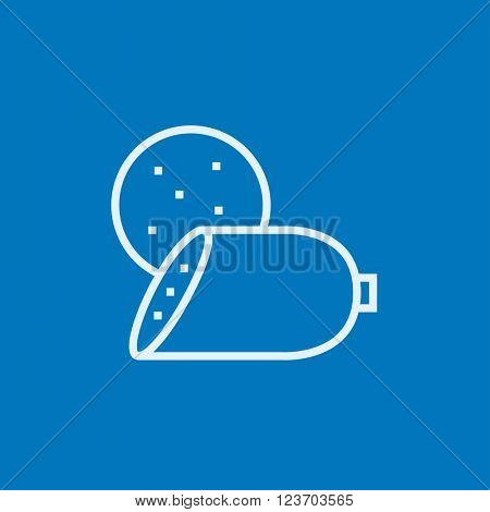 Sliced wurst line icon.