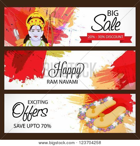 illustration of a Sale Header for Ram Navami .